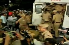 AIADMK party supporters taken into custody