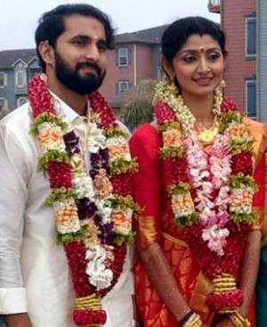 Actress Divyaa Unni and Arun Kumar Wedding