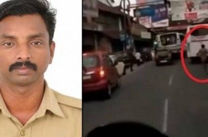 Kottayam Traffic Policeman clear traffic for ambulance video goes vira