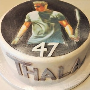 This popular actor's wife prepares a special cake for Ajith