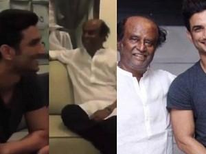 Throwback: When Sushant Singh Rajput met Superstar Rajinikanth! Viral Video