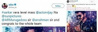 Celebrities reaction to Sarkar title and First look